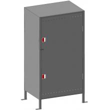 Шкаф уличный для хранения пожарного инвентаря 2000*1190*750 мм
