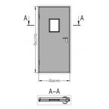 Двери однопольные со стеклом дымогазонепроницаемые EIS60