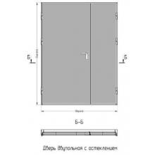 Двери двупольные без стекла дымогазонепроницаемые EIS60