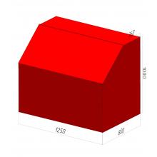 Ящик для песка пожарный ЯП-1,0-01 без дозатора
