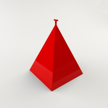 Пирамида для гидранта 750х750х900 утепленная